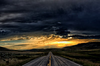 Montana Sunset Road