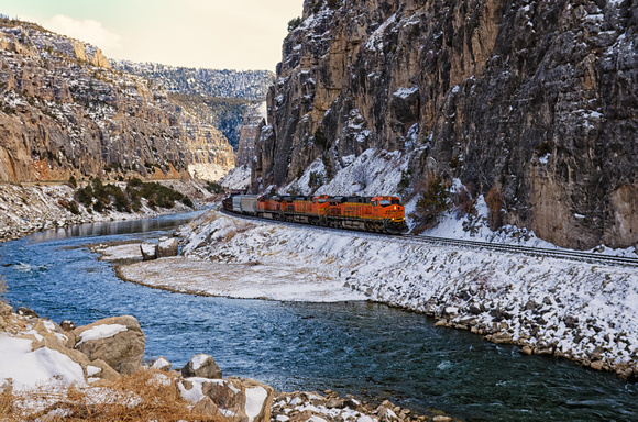 Shoshone Canyon Train